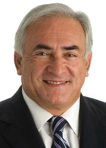 Dominique Strauss-Kahn in his IMF portrait.