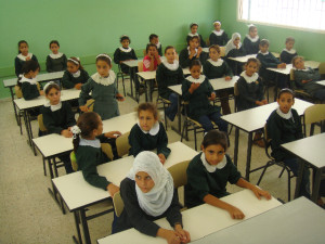 Palestinian girls in classroom. Image: Al Jazeera English