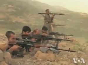 Kurdish Fighters. Image Credit: VOA