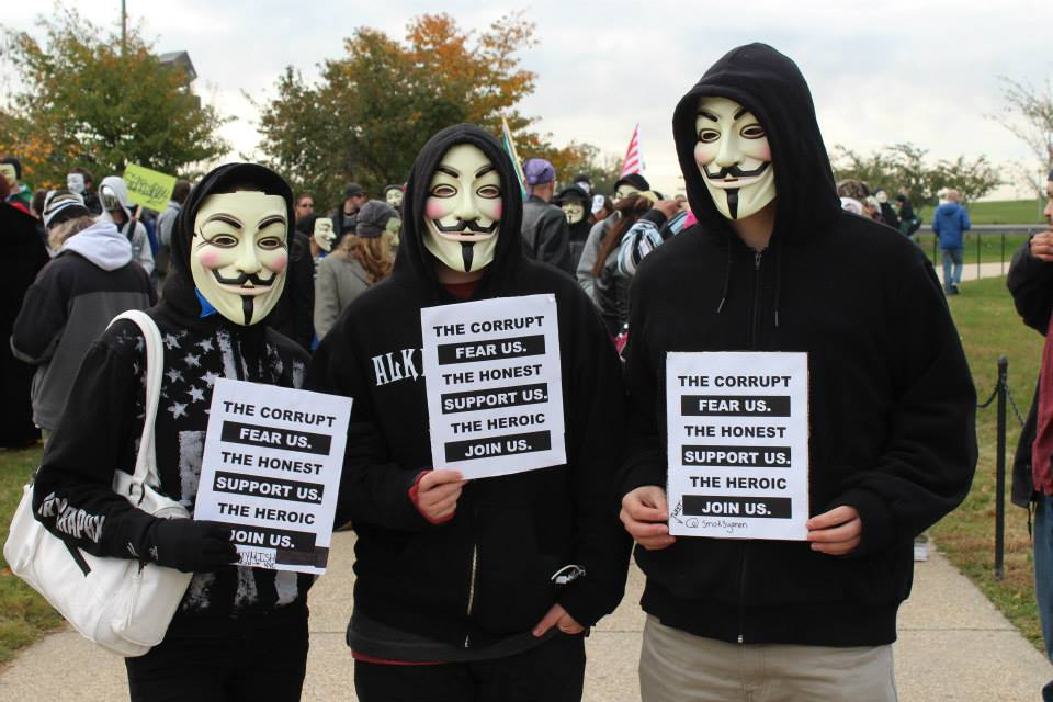 Anonymous: The Corrupt Fear Us.