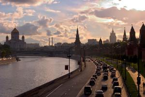 """""""Kremlevskaya Naberezhnaja Moscow hires"""" by Dmitry Azovtsev."""