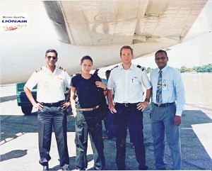 This isn't Jolie on location for a movie. This is her at the airport in war torn Jaffna in Sri Lanka back in 2003.  Image Source: Jeevanram