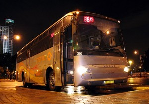 Bus in Israel. Public Domain image.