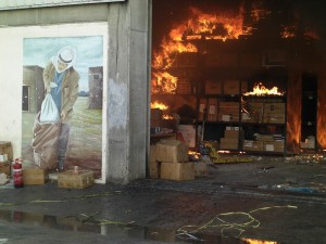 United Nations Relief and Works Agency for Palestine Refugees in the Near East building shelled by Israelis in 2009. Image Source: ISM photographer in Palestine. International Solidarity Movement.