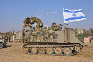 """""""Armored Vehicles Near the Gaza Border (14569563999)"""" by Israel Defense Forces -"""