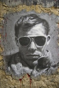 "Hunter S. Thompson.  Image Source: ""Hunter S. Thompson graffiti 1"" by thierry ehrmann"