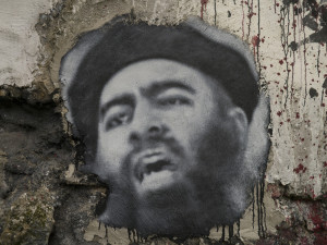 Abu Bakr al Baghdadi, painted portrait P1040030 Image Source: thierry ehrmann, flickr, Creative Commons