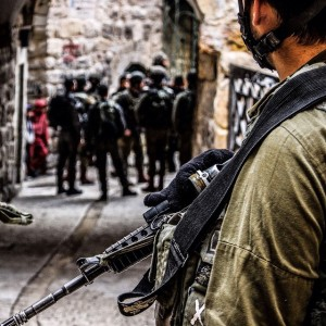 IDF soldier on streets for weekly protest. Image Source: CPT Palestine, Flickr, Creative Commons.