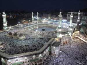 Worshipers pack the house for night prayers in Mecca.  Image Source: Al Jazeera English
