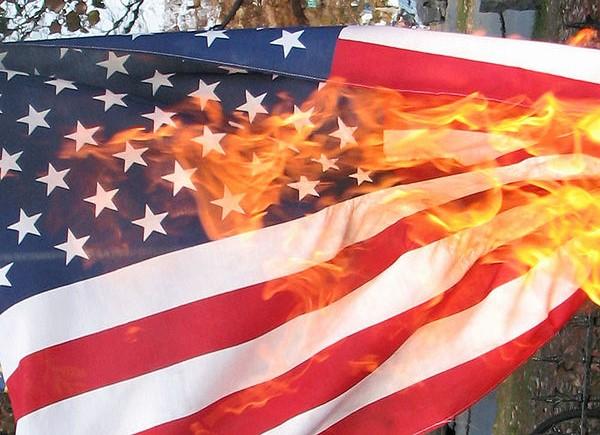 Burning American Flag  Image Source:  Jennifer Parr