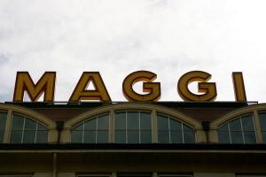 """Maggi noodles, owned by Nestle Image Source: """"Singen - Julius-Bührer-Straße - Maggi 04 ies"""" by Frank Vincentz -"""