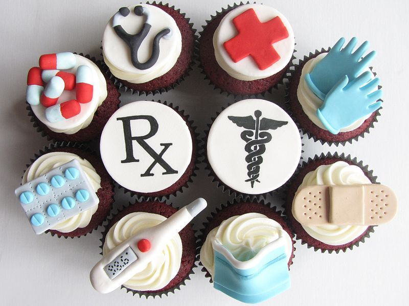 Doctor's medical themed cupcakes Image source: Clever Cupcakes from Montreal, Canada