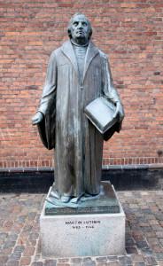 Copenhagen, Denmark. Statue of Martin Luther by Rikard Magnussen 1983