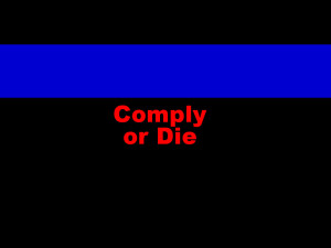 The thin blue line.