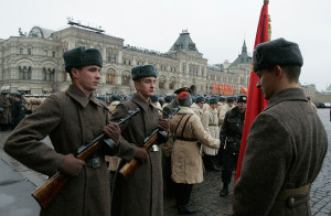 Russian troops in historical uniforms. Image Source: Peter Bolkhovitinov, Flickr, Creative Commons