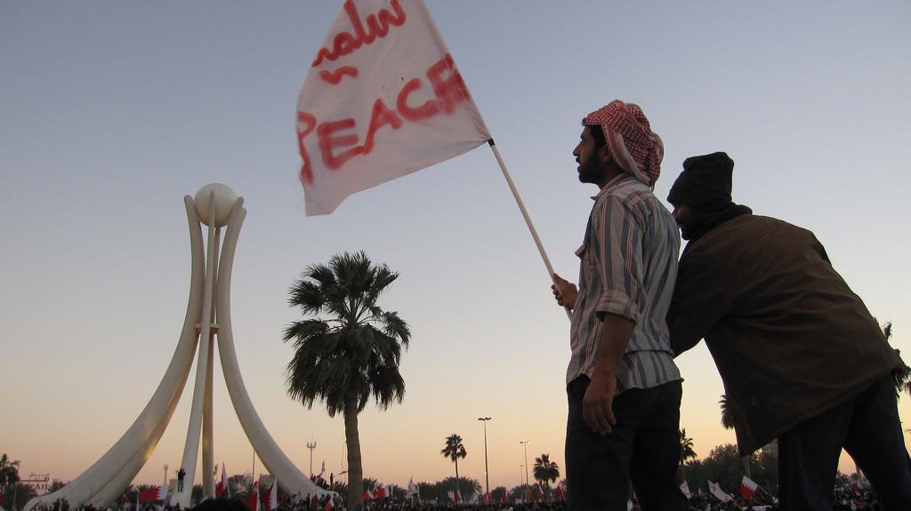 Bahrain peace.  Image Source: Al Jazeera English, Flickr, Creative Commons.