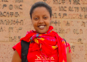 Edom Kassaye on a research trip in Harar, Ethiopia, July 2013. Photo by Endalk Chala.