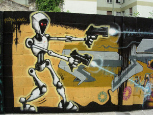 Robot pistolero Image Source: jlmaral, Flickr, Creative Commons