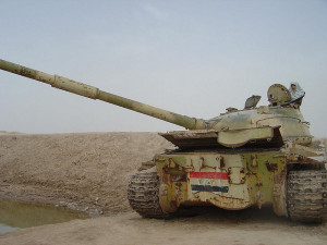 Iraqi tank Image Source: Hamed Saber, Flickr, Creative Commons
