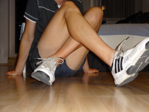 Short shorts... by the way, that's a guy.  Image Source: Peter, Flickr, Creative Commons