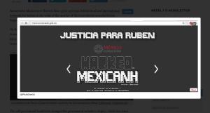 Screencap of defacement. Via PanAm Post
