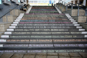 Image Source: University of Essex, Flickr, Creative Commons Human Rights Day - chalking of the steps Students write out the articles of the Universal Declaration of Human Rights on the steps at the Colchester Campus
