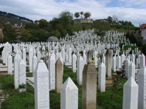 Image Source: watchsmart Flickr, Creative Commons Sarajevo Cemetery A cemetery in the middle of Sarajevo. Everyone died during the war. Very sad.