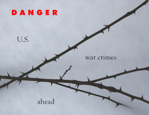 Image Source: Bird Eye, Flickr, Creative Commons Danger U.S. war crimes ahead
