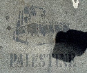 Image Source: Franco Folini, Flickr, Creative Commons Sidewalk stencil: Palestine