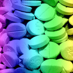 Image Source: Courtney Rhodes, Flickr, Creative Commons Rainbow Pill Background 3
