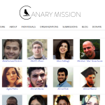 Image Source: Screenshot Canary Mission