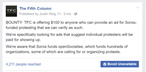 The Fifth Column will pay you, if you got paid by Soros